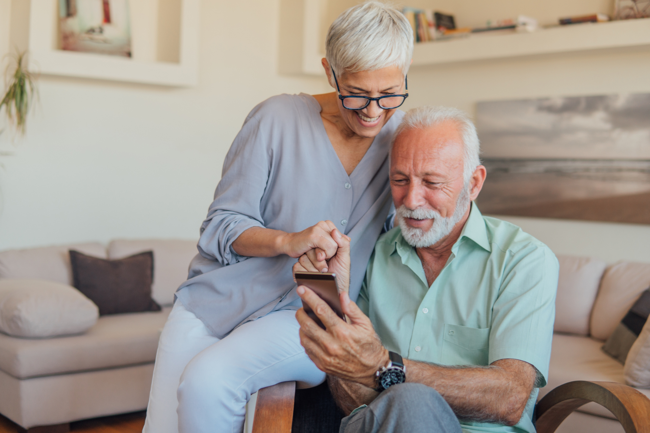 GKS Law wills and estates elderly couple on smartphone